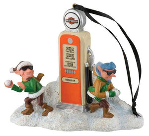 Harley-Davidson® Custom Sculpted Elf Gas Pump Polyresin Ornament HDX-99165