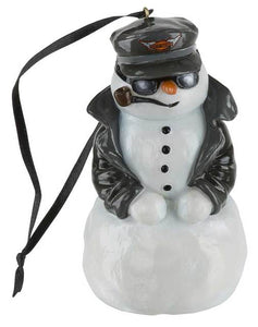 Harley-Davidson® Custom Sculpted Biker Snowman LED Color Ornament HDX-99169
