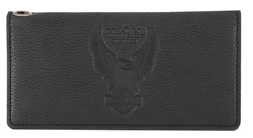 Harley-Davidson® Men's Liberty Eagle Trucker Wallet | RFID Protection | Gift Box - HDMWA11673