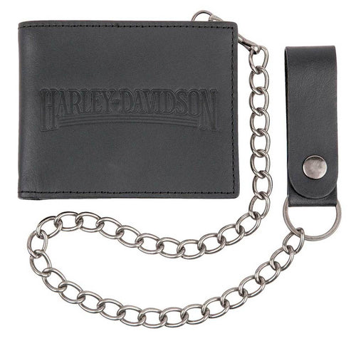 Harley-Davidson® Men's Shot Caller Bi-Fold Leather Biker Wallet HDMWA11235-BLK