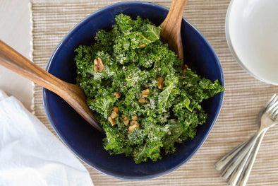 Kale Salad with Parmesan Vinaigrette