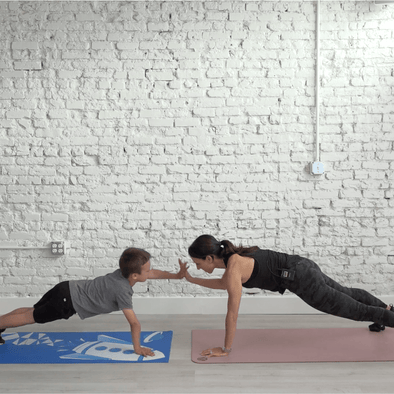M+M Kids Partner Workout- 10 minutes- No Equipment