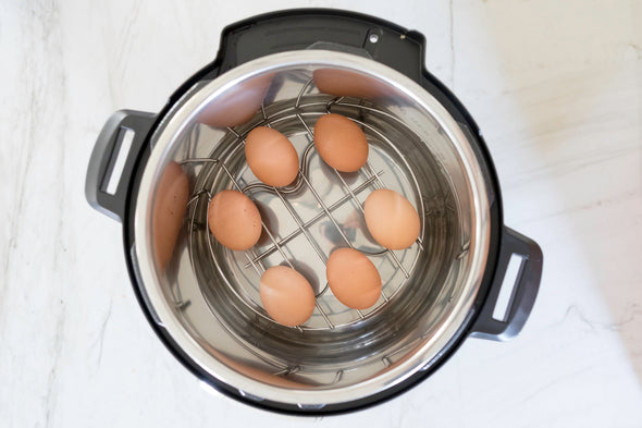 Hard Boiled Eggs using the Pressure Cooker