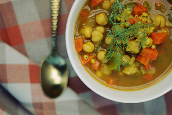 Garbanzo Bean Sorghum Soup