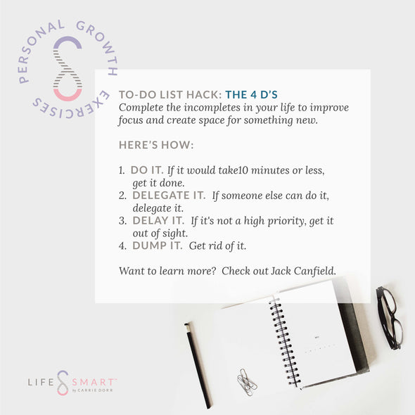 To-Do List Hack: The 4D's