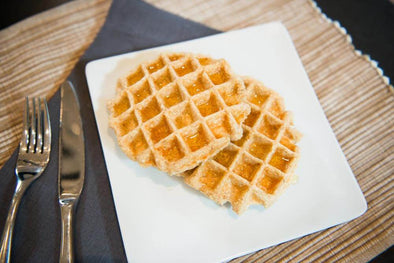 Banana Oatmeal Greek Yogurt Waffles