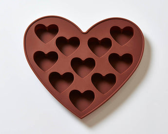 10 Cavity Hearts Silicone Cake/Soap Mould B0025