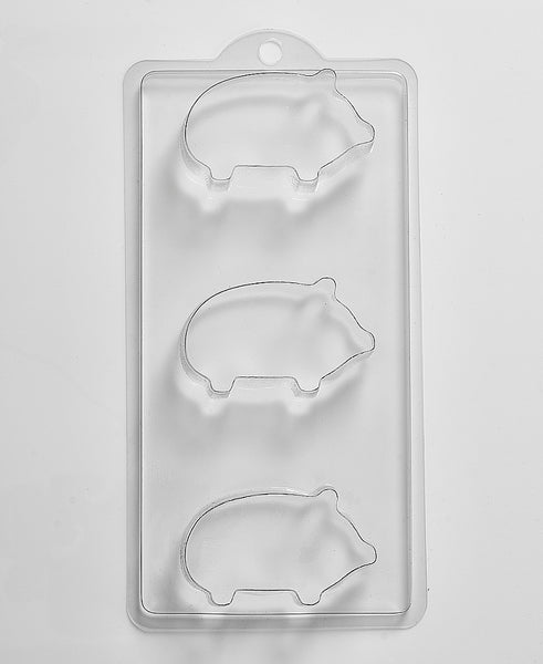 3 Pigs Soap/Bath Bomb Mould Mold 3 Cavity M59