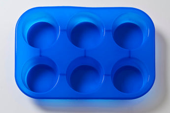 6 Cavity Round Cake/Jelly/Soap Silicone Soap Mould B0019