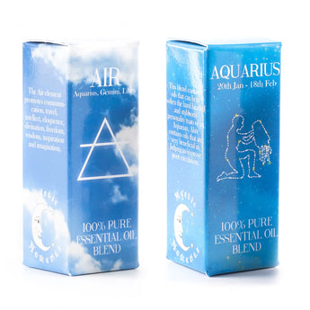 Air Element & Aquarius Zodiac Sign Astrology Essential Oil Blend Twin Pack (2x10ml)