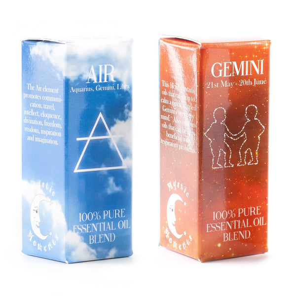 Air Element & Gemini Zodiac Sign Astrology Essential Oil Blend Twin Pack (2x10ml)