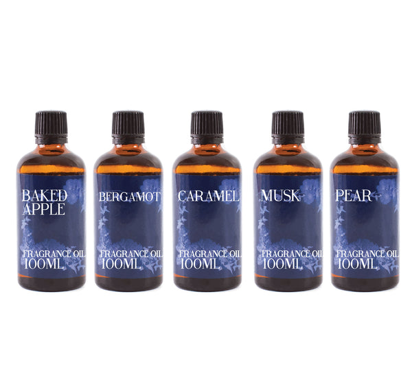 Autumn | Gift Starter Pack of 5 x 100ml Fragrant Oils