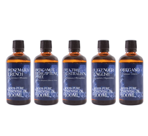 Clear Skin | Gift Starter Pack of 5 x 100ml Essential Oils