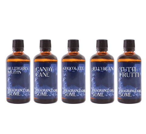 Confectionery | Gift Starter Pack of 5 x 50ml Fragrant Oils