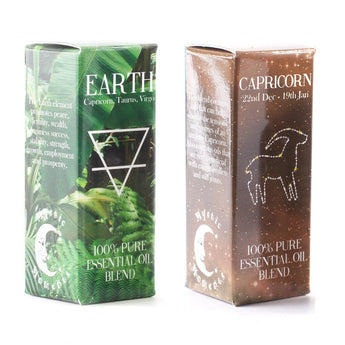 Earth Element & Capricorn Zodiac Sign Astrology Essential Oil Blend Twin Pack (2x10ml)