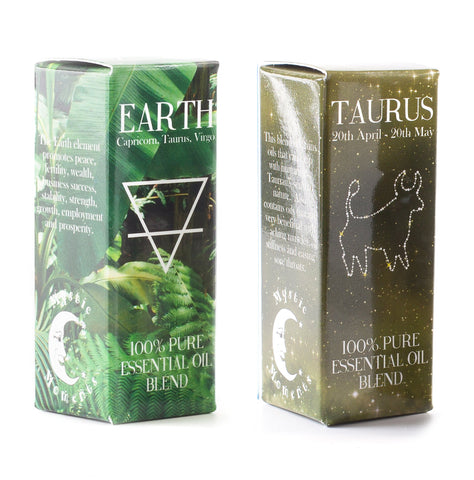 Earth Element & Taurus Zodiac Sign Astrology Essential Oil Blend Twin Pack (2x10ml)