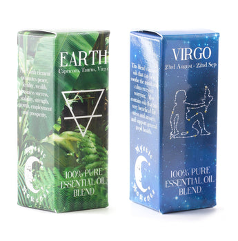 Earth Element & Virgo Zodiac Sign Astrology Essential Oil Blend Twin Pack (2x10ml)