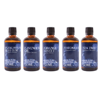 Favourite | Gift Starter Pack of 5 x 50ml Essential Oil