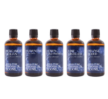 Essential Oils Of Italy | Gift Starter Pack of 5 x 100ml Essential Oils