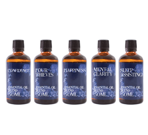 Everyday Essentials | Gift Starter Pack of 5 x 50ml Essential Oil