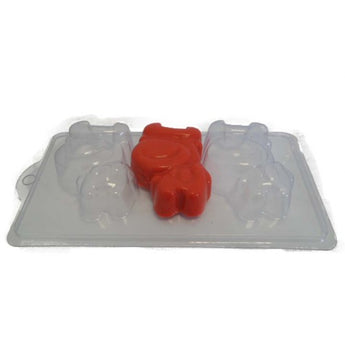 Cartoon Bull Soap/Bath Bomb Mould Mold 4 Cavity F02