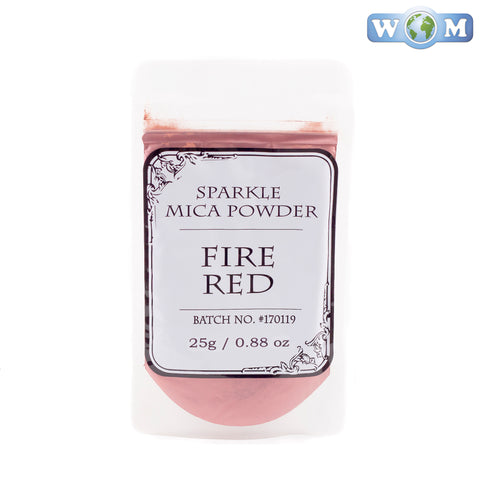 Fire Red Sparkle Mica