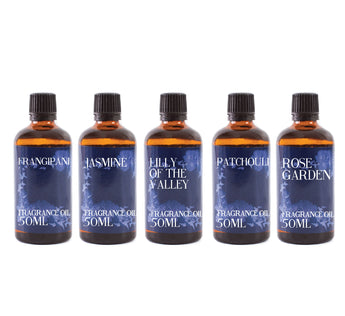 Floral Favourite | Gift Starter Pack of 5 x 50ml Fragrant Oils
