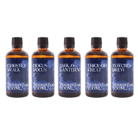 Halloween | Gift Starter Pack of 5 x 100ml Fragrant Oils