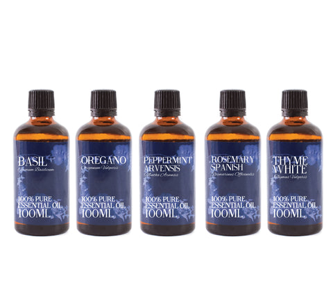 Herb | Gift Starter Pack of 5 x 100ml Essential Oils