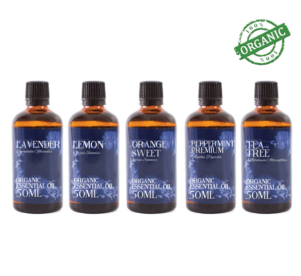 Organic Favourite | Gift Starter Pack of 5 x 50ml Essential Oils