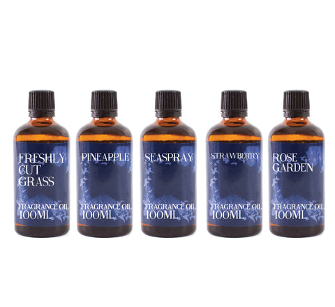 Summer | Gift Starter Pack of 5 x 100ml Fragrant Oils