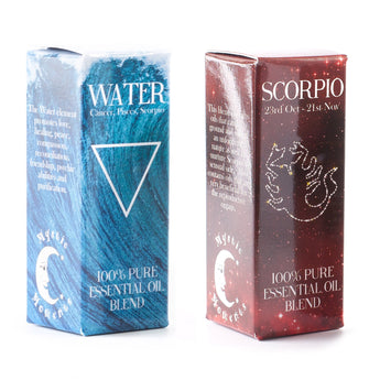 Water Element & Scorpio Zodiac Sign Astrology Essential Oil Blend Twin Pack (2x10ml)