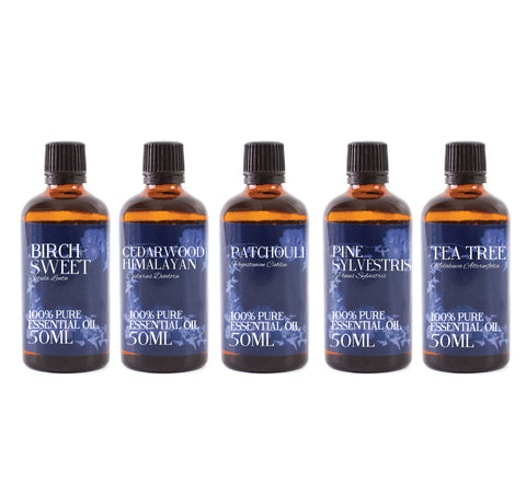 Woodland | Gift Starter Pack of 5 x 50ml Essential Oils