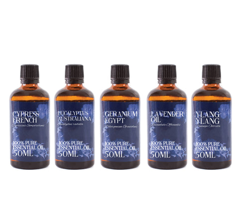 Yin | Gift Starter Pack of 5 x 50ml Essential Oils