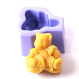 Antique Teddy Silicone Soap Mould H0017