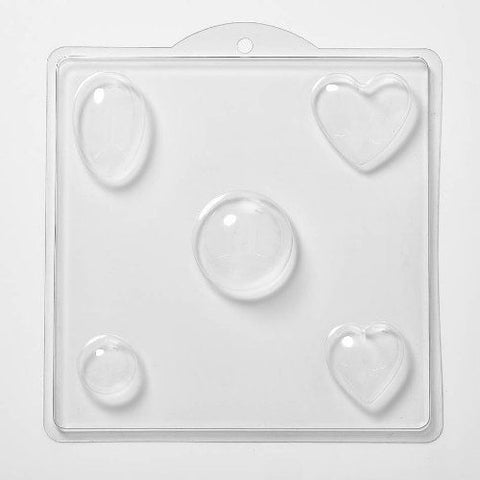 Assorted Shapes Cavity 5 Soap/Bath Bomb/Chocolate Mould M135
