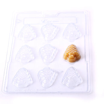 Christmas Tree Chocolate/Sweet/Soap/Plaster/Bath Bomb Mould #031 (9 cavity)