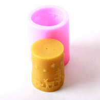 Cylinder Christmas Silicone Candle/Bath Bomb Soap /Chocolate Mould LZ0028