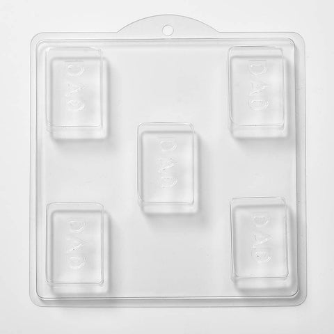 Dad Soap/Bath Bomb/Chocolate/Plaster Mould x 5 M137