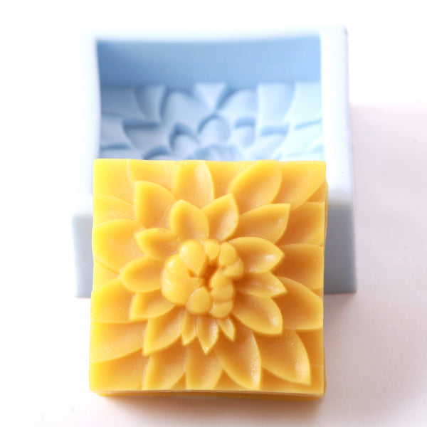 Dahlia Flower Silicone Soap Mould R0257