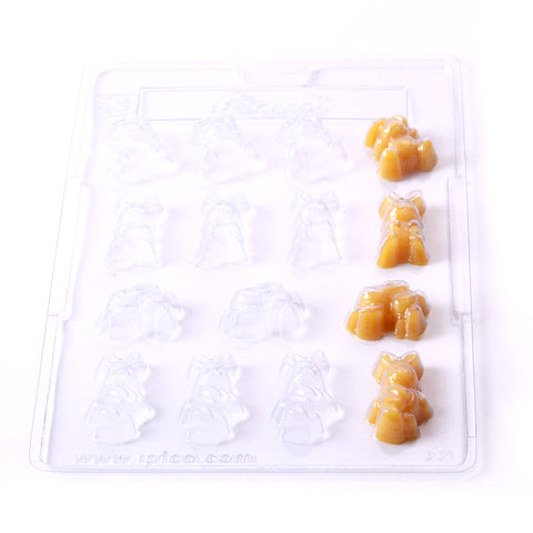 Rabbits Chocolate/Sweet/Soap/Plaster/Bath Bomb Mould #221 (15 cavity)