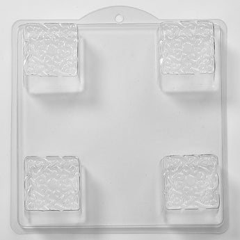 Embossed Knot on a Square Soap/Bath bomb Mould 4 Cavity L04