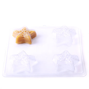 Embossed Star Soap/Bathbomb Mould 4 Cavity G08