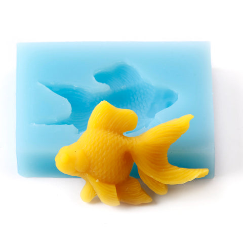 Fondant Icing Cake Decorating Silicone Fish Shape Mould Q0001