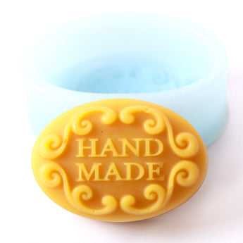 Hand Made In Oval Silicone Soap Mould R0256