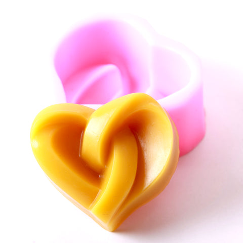 Knotted Heart Silicone Soap Mould R0073