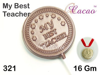 My Best Teacher Medal Chocolate/Sweet/Soap/Plaster/Bath Bomb Mould #321 (4 Cavity)