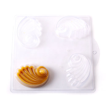 Sea Shell Soap/Bathbomb Mould 4 Cavity G15