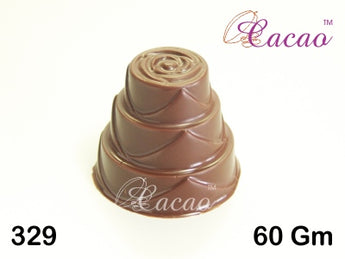 Wedding Cake Chocolate/Sweet/Soap/Plaster/Bath Bomb Mould #329 (4 Cavity)