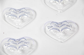 Wedding Favour Soap/Chocolate Bells on Heart Mould 8 Cavity M144